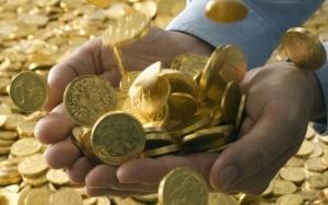 mão moedas