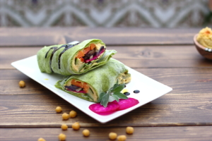 green-veggie-wraps-and-chickpeas